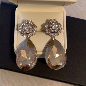 Amber Swarovski Crystal Earrings